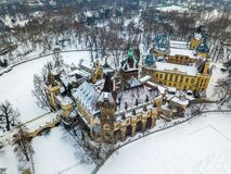 Free Budapest, Hungary - Aerial View Of The Beautiful Vajdahunyad CasBudapest, Hungary - Aerial View Of The Beautiful Vajdahunyad Castl Royalty Free Stock Images - 111412499