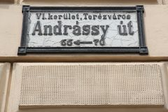 Budapest Andrassy Street Royalty Free Stock Photo