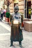 The Fat Policeman Statue stock photo