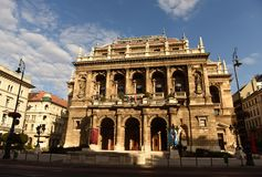 Budapest, Hungary - August 29, 2017: Hungarian State Opera House in Budapest. royalty free stock photos