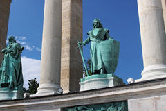 BUDAPEST, HUNGARY - AUGUST 08, 2012: Sculpture of king Charles Robert Kiss Gyorgy, 1905. Stock Photo