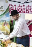 Traditional folk fair in honor of Saint Istvn and the first bread in Hungary with folk masters. Budapest. Hungary Stock Image