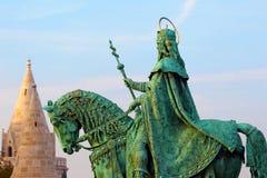 Budapest. Hungary. Buda Castle. Monument to Ishtvan. Royalty Free Stock Images