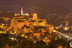 Budapest, Hungary, Budapest castle - night picture royalty free stock image
