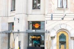 Budapest/Hungary-01 09 18: Caffè di Hard Rock Cafe a Budapest Ungheria fotografia stock libera da diritti