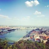 Budapest. Hungary capital, love Stock Image