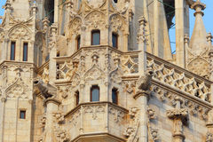 Budapest. Hungary. Cathedral Sacred Matyash. Architectural details of Gothic architecture Stock Images