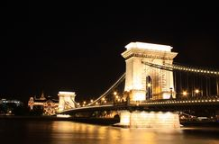 Budapest, Hungary. Chain bridge Stock Image