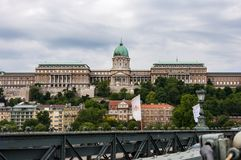Buda Castle. Budapest, Hungary. Chain Bridge and Buda Castle royalty free stock photos