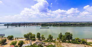 Budapest Hungary. Danube river panorama Royalty Free Stock Photos