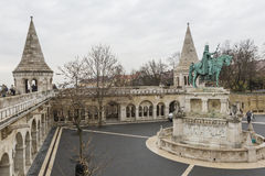 BUDAPEST, HUNGARY - DECEMBER 10, 2015: Fishermen's bastion in Budapest. Hungary Royalty Free Stock Photo
