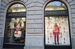 Moncler showcase in Budapest on December 29, 2017. Royalty Free Stock Images