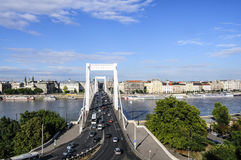 Budapest hungary europe bridge elizabeth royalty free stock photography