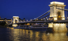 Budapest hungary europe chain bridge stock photos