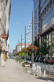 BUDAPEST, HUNGARY/EUROPE - 21 DE SETEMBRO: Cena da rua em Budape fotografia de stock