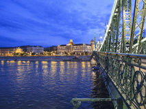 Budapest hungary europe liberty bridge Royalty Free Stock Photo