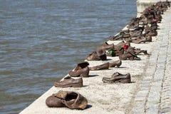 BUDAPEST, HUNGARY/EUROPE - 21. SEPTEMBER: Eisen beschuht Denkmal zu lizenzfreies stockfoto