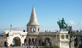 BUDAPEST, HUNGARY/EUROPE - SEPTEMBER 21 : Fishermans Bastion in. Budapest Hungary on September 21, 2014. Unidentified people Royalty Free Stock Photography