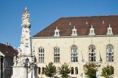 BUDAPEST, HUNGARY/EUROPE - SEPTEMBER 21 : Trinity column and bui. Lding in Budapest Hungary on September 21, 2014 Stock Photos