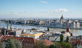 BUDAPEST, HUNGARY/EUROPE - SEPTEMBER 21 : View from Fishermans B. Astion in Budapest Hungary on September 21, 2014 Stock Photos