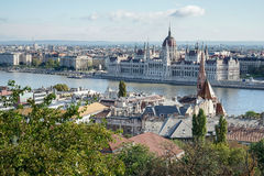 BUDAPEST, HUNGARY/EUROPE - SEPTEMBER 21 : View from Fishermans B. Astion in Budapest Hungary on September 21, 2014 Royalty Free Stock Photo