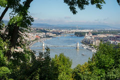 BUDAPEST, HUNGARY/EUROPE - SEPTEMBER 21 : View of the River Danu. Be in Budapest Hungary on September 21, 2014 Stock Photos