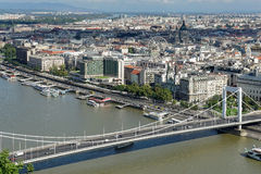 BUDAPEST, HUNGARY/EUROPE - SEPTEMBER 21 : View of the River Danube in Budapest Hungary on September 21, 2014 royalty free stock photos