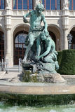 BUDAPEST, HUNGARY/EUROPE - 21 SEPTEMBRE : Statue devant photo stock