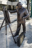 BUDAPEST, HUNGARY/EUROPE - 21 SEPTEMBRE : Statue en bronze de Rosk Images stock