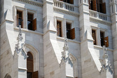 BUDAPEST, HUNGARY/EUROPE - 21 SETTEMBRE: Il Parlamento ungherese b immagine stock