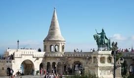 BUDAPEST, HUNGARY/EUROPE - WRZESIEŃ 21: Fishermans bastion wewnątrz fotografia royalty free