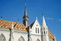 BUDAPEST, HUNGARY/EUROPE - WRZESIEŃ 21: Matthias kościół w pączku Fotografia Stock