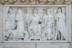 BUDAPEST, HUNGARY/EUROPE - WRZESIEŃ 21: Rzeźba przy bazą zdjęcie stock