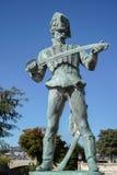 BUDAPEST, HUNGARY/EUROPE - WRZESIEŃ 21: Statua Oreg Huszar zdjęcia royalty free