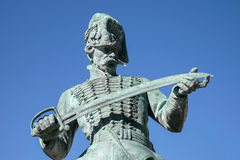 BUDAPEST, HUNGARY/EUROPE - WRZESIEŃ 21: Statua Oreg Huszar fotografia stock