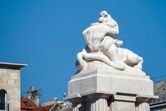 BUDAPEST, HUNGARY/EUROPE - WRZESIEŃ 21: Tisza statua w Bu Zdjęcia Royalty Free
