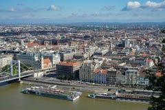 BUDAPEST, HUNGARY/EUROPE - WRZESIEŃ 21: Widok od rybaka zdjęcie stock