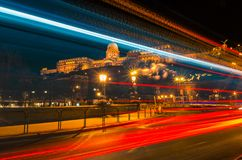 Budapest, Hungary, 5 of February 2016, Editorial photo of National galery in the night in Budapest, Hungary Royalty Free Stock Photography