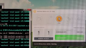 Bitcoin mining on a desktop stock footage video of mining program bitcoin mining on a desktop ccuart Gallery