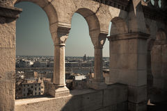 Budapest, Hungary from Fisherman's Bastion Royalty Free Stock Photos