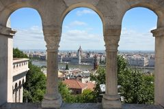 Budapest, Hungary from Fishermen's Bastion Royalty Free Stock Photos