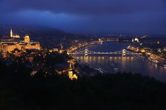 Budapest, Hungary, from fortress Citadel Stock Photography