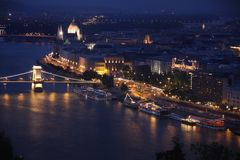 Budapest, Hungary, from fortress Citadel Stock Photo