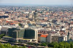 Budapest, Hungary, from fortress Citadel Stock Image