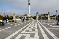 Budapest, Hungary (Heroes Square) Stock Photos