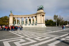 Budapest, Hungary (Heroes Square) Stock Photo
