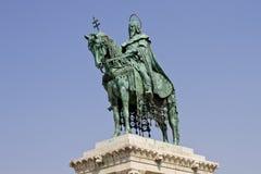 budapest Hungary ja świątobliwa statua Stephen Fotografia Royalty Free