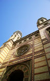 budapest hungary judisk synagoga Arkivfoton