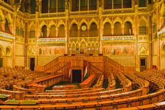BUDAPEST, HUNGARY - JULY 23, 2015:  Chamber of the Lower House of Budapest Royalty Free Stock Image