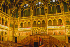 BUDAPEST, HUNGARY - JULY 23, 2015:  Chamber of the Lower House o Royalty Free Stock Image